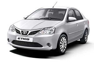 Hire Toyota Etios cab in delhi